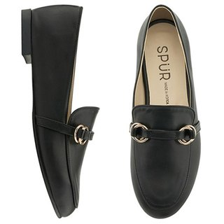 PRE-ORDER - SPUR Ring belt loafer MF9008 BLACK