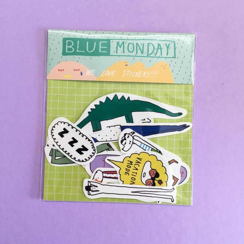 Blue Monday | Sticker Pack (11 in)
