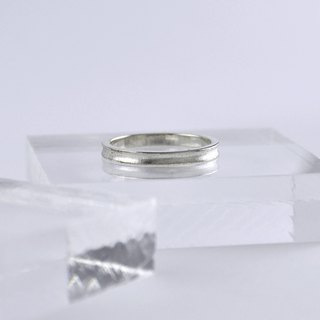 Sterling Silver Concave Pinky Ring