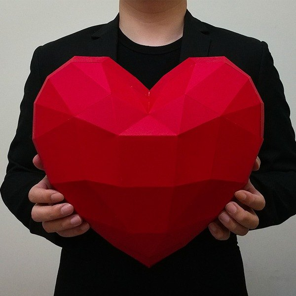 3D paper model _ love your heart _DIY Kits_ hand-made combination