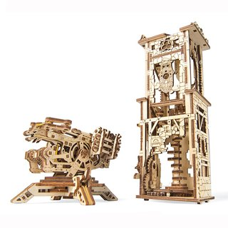 /Ugears/ Ukrainian wooden model guardian arrow tower Archballista Tower