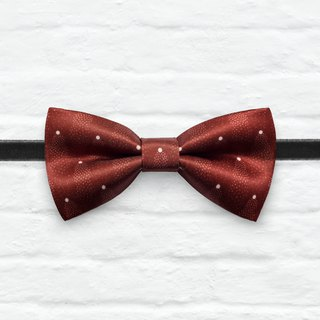 Style 0099 Wine Red Mini Dots pattern Bowtie -  Wedding Bowtie