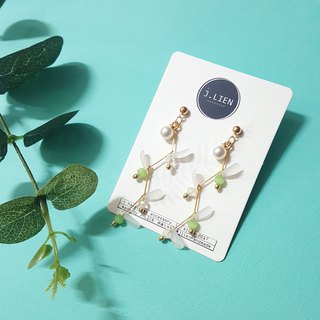Sprout ear / ear clip handmade earrings Korea direct