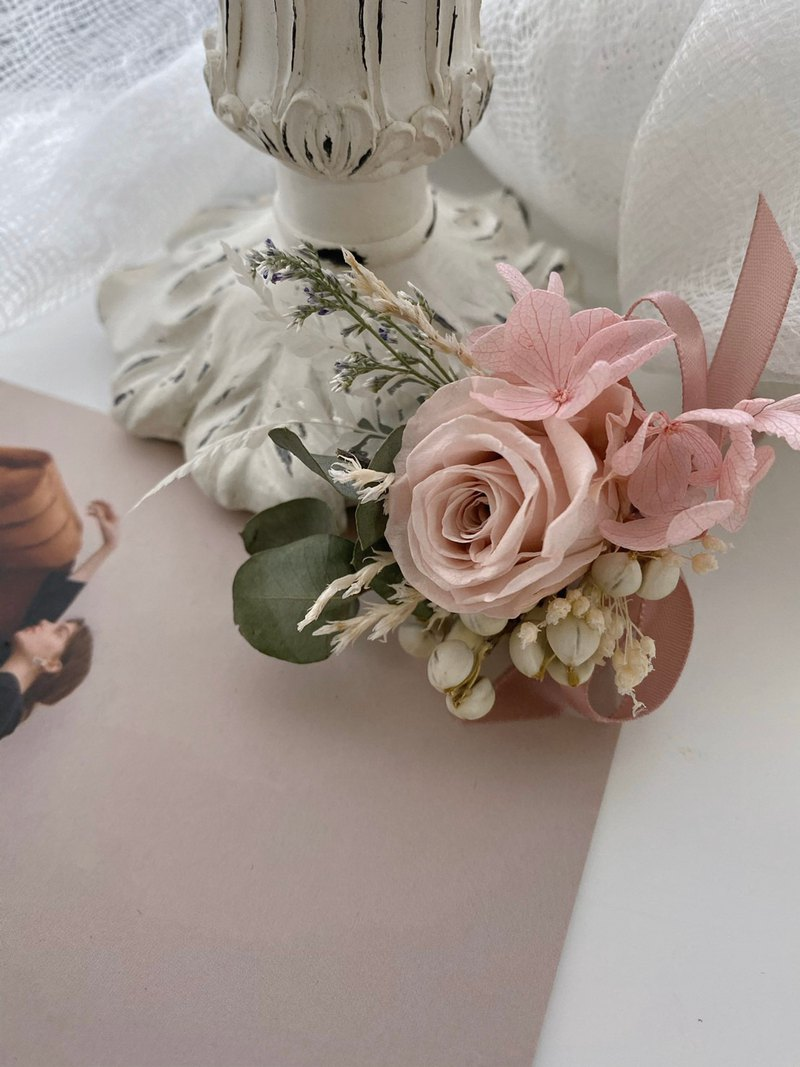 Eternal flower wedding corsage corsage dry flower wedding