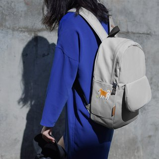 [Infant recommended] the most beloved share - Firewood rock gray canvas backpack