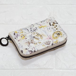 Play cloth hand made. Cat Japanese coin change separate clip waterproof cloth short clip wallet purse purse