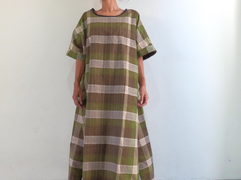 [Made to order] One-piece dress / olive made at check salon