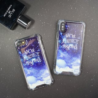 [We are together under the night sky] Anti-gravity anti-fall mobile phone case
