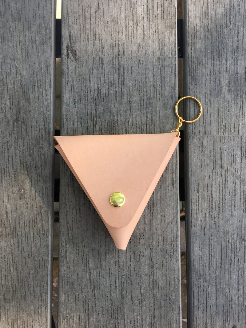 Handmade / Classic Vegetable Tanned Triangle Coin Purse / Primary Color