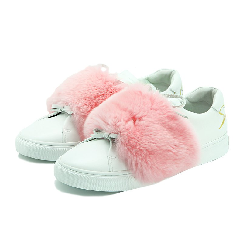 Leather Sneaker Peony W1074 White