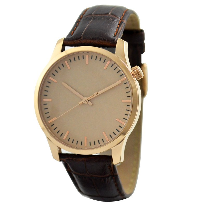 Minimalist Watch Big Size Rose Gold Rose Gold Face - Free shipping