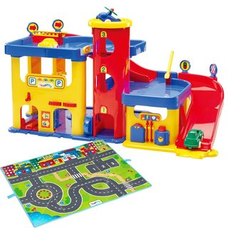 """VIKINGTOYS"" Viking city group - car repair garage comes with the game mats (original price 2460 yuan)"