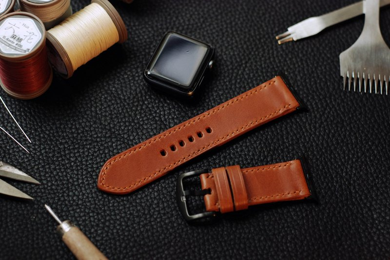 [In Offer] Applewatch Leather Hand Stitched Strap-Brown [buttero]