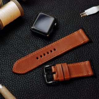 Applewatch leather hand strap strap - brown [Italian Association certification] [buttero]