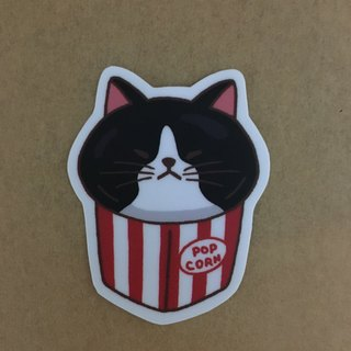 """Art of fish"" cat popcorn medium-sized daily waterproof stickers-SM0065"