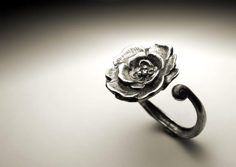 牡丹花戒指