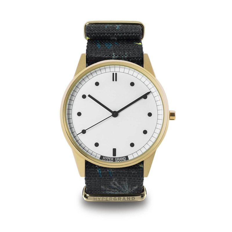 01 Basic Series - GRENVILLE Quebec Town Watch - Gold White Dial