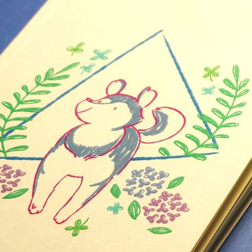 ◕☁ daily cloud Pina F0001-302 animal corner Ranger A5 notebook