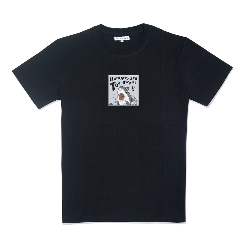 Dosquare - Black Cotton T-shirt with Graphic