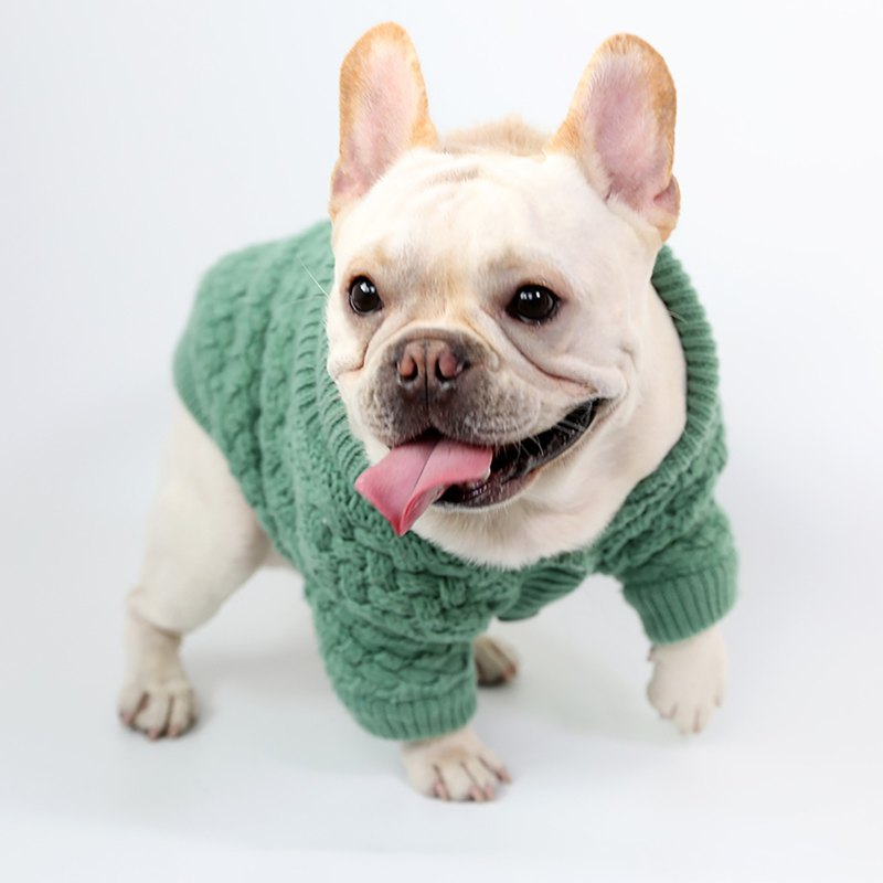 Pet Dog Lapel Cardigan Baby Green