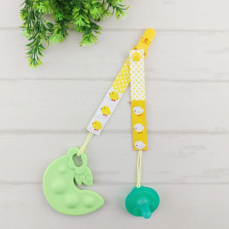 Chicken treasure. Double chain manual pacifier chain (for vanilla pacifiers)