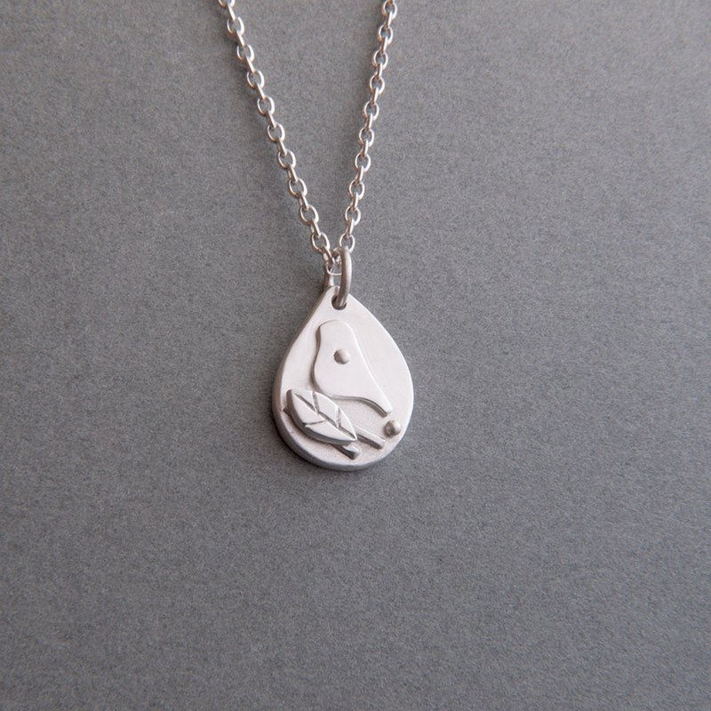 Happy Bird - Sterling Silver Bird Necklace