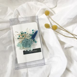 / Dry Flower Card / Thanksgiving Card - Blue