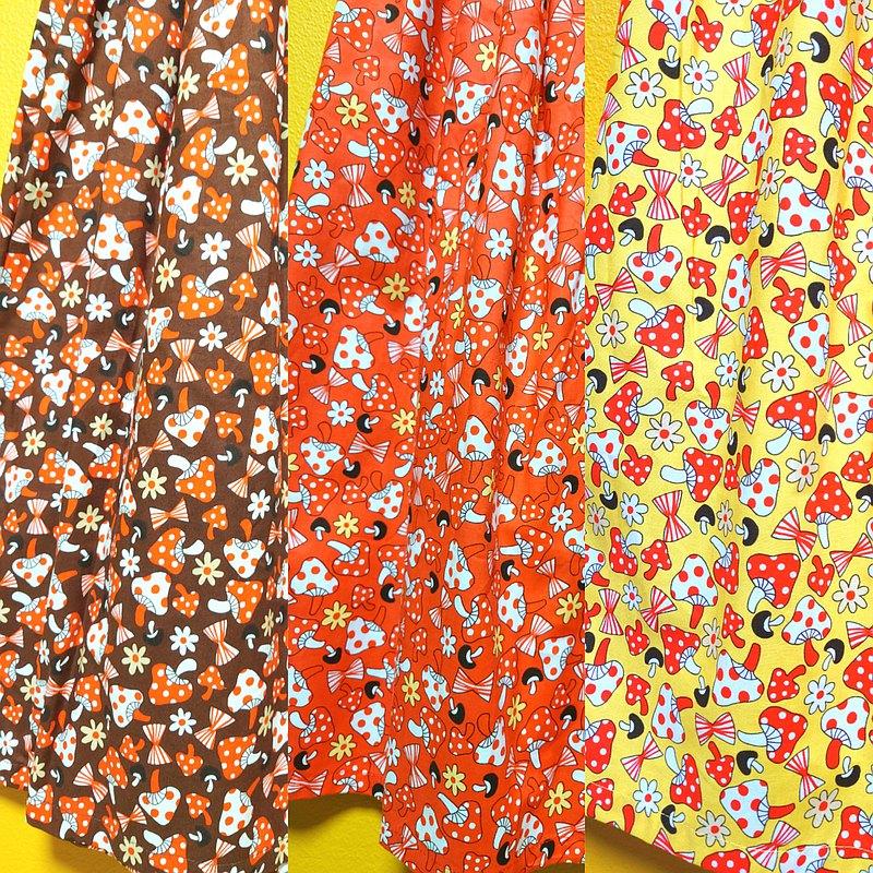 蘑菇花緞帶裙 / 均碼 / 日本紡織 / 日本製造