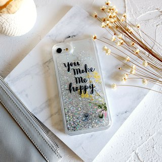 PATTERN LAB | Liquid Glitter Case for iPhone 6/6S/7/8 - Happy