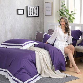 (Increase size) Dream original color tone - Violet 60 cotton multi-layer design bed package four-piece group