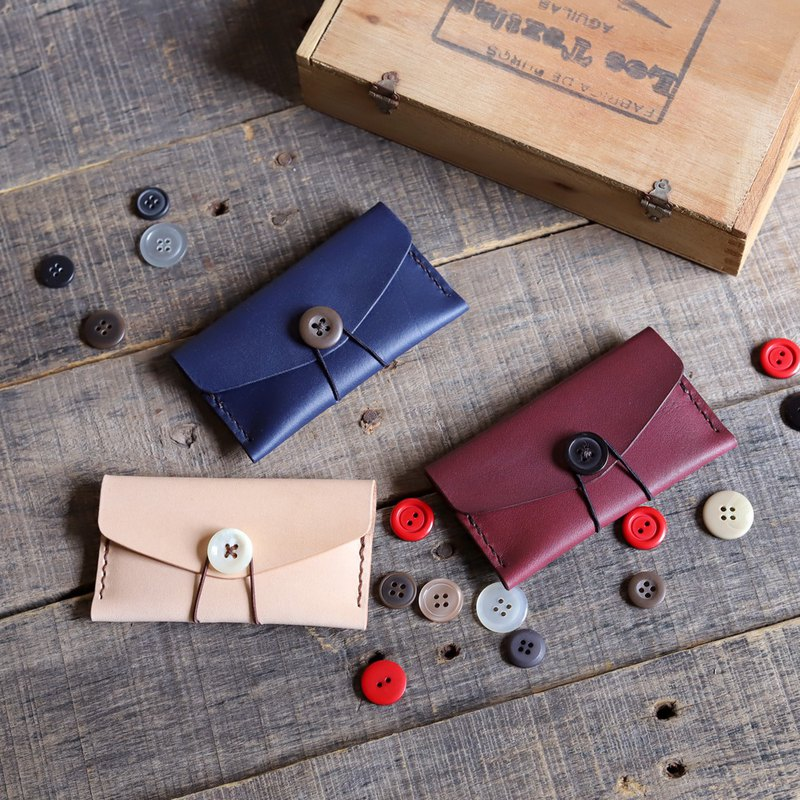 Good Time Business Card Holder Real Leather Handmade Experience Class <Double Ticket>