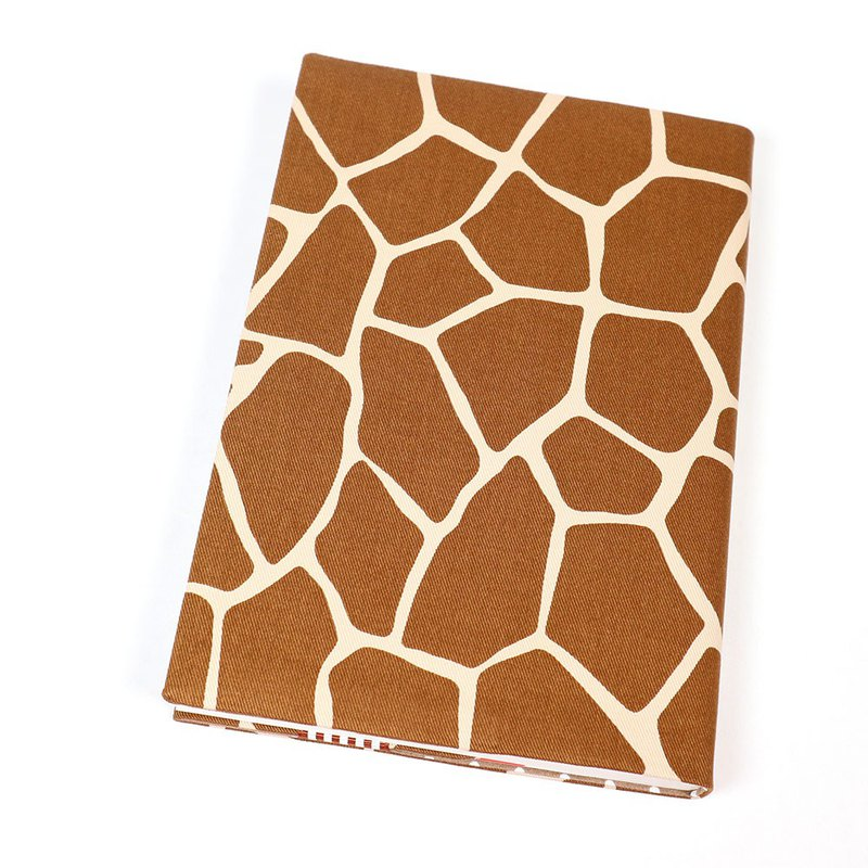 A5 cloth book cover mother book cloth book cover bookcloth - giraffe marking (coffee)