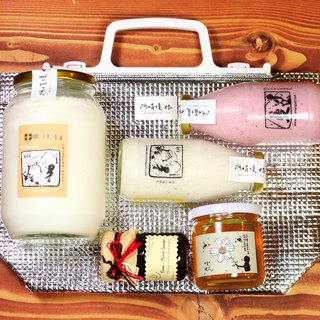 A Juan Yogurt Gift Bag | Original Yogurt Red Cranberry Litchi Honey Jam