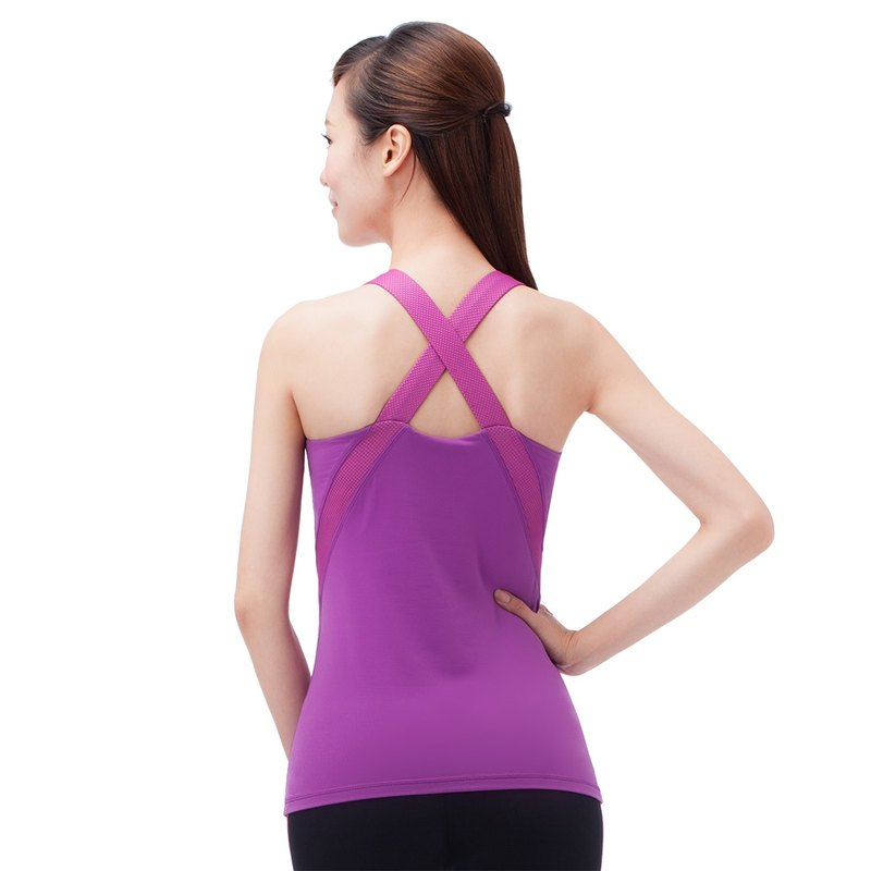 [MACACA] Surround hugs slim vest - AWE1372 Berry Purple / Pink Orange