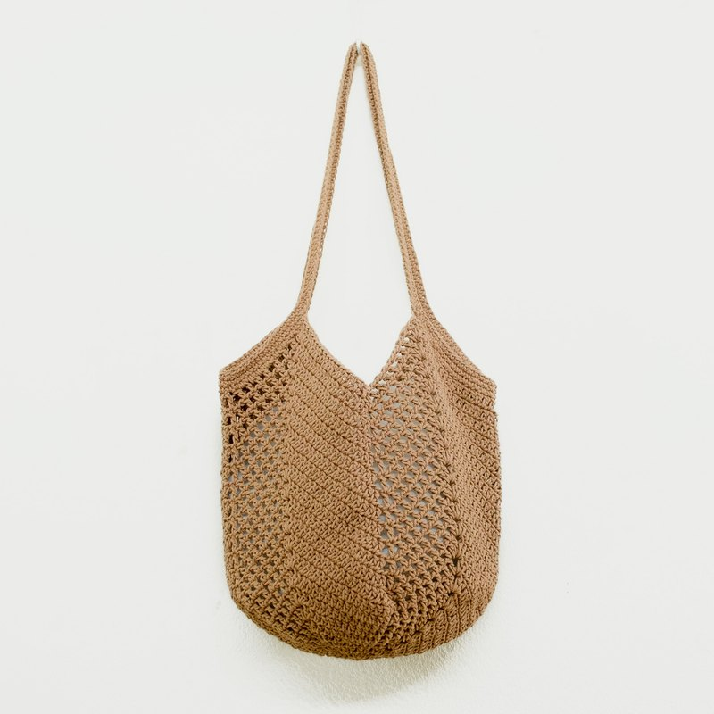 Crochet Bag | Bucket Bag - Brown Color