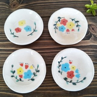Colored floral saucer