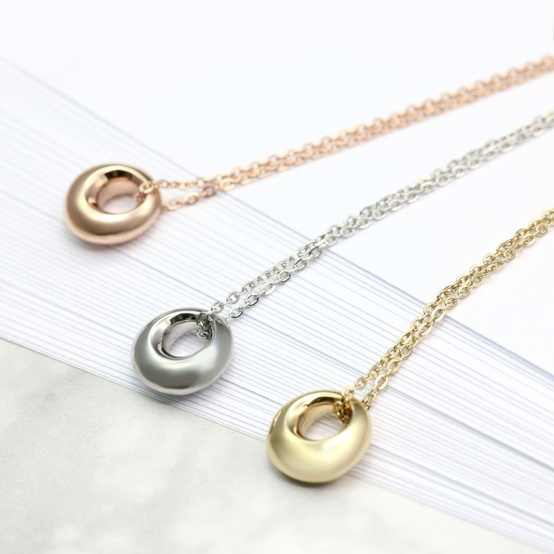Donut Necklace 316L Medical Grade Stainless Steel