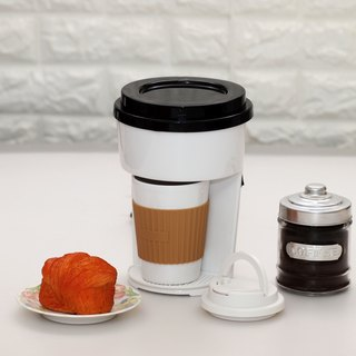 One Cup Single Serve Filter Coffee Maker Machine incl Travel PP Mug