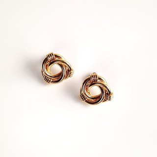 [Ancient pieces] retro golden earrings tricyclic