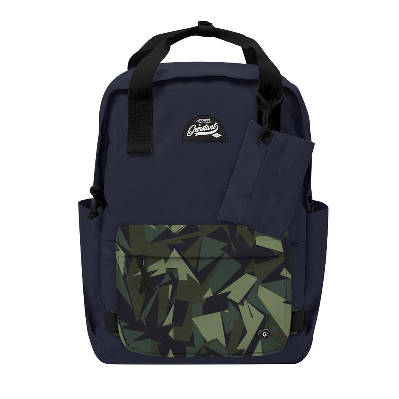 Grinstant mix and match detachable group 15.6 吋 backpack - Adventure series (dark blue with camouflage)