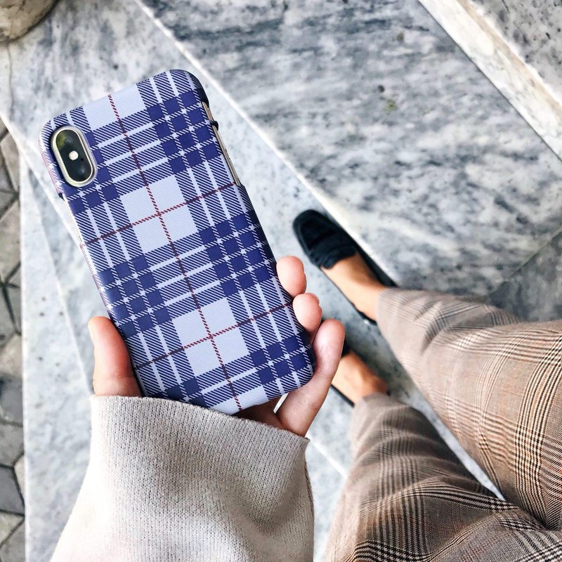 BLUE TARTAN iPhone case, phone case, iPhone cover, iPhone XS Max case, iPhone XS