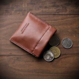 [NS leather goods] leather shrapnel gold bag / coin purse / small bag / banknote / gift (free printing)