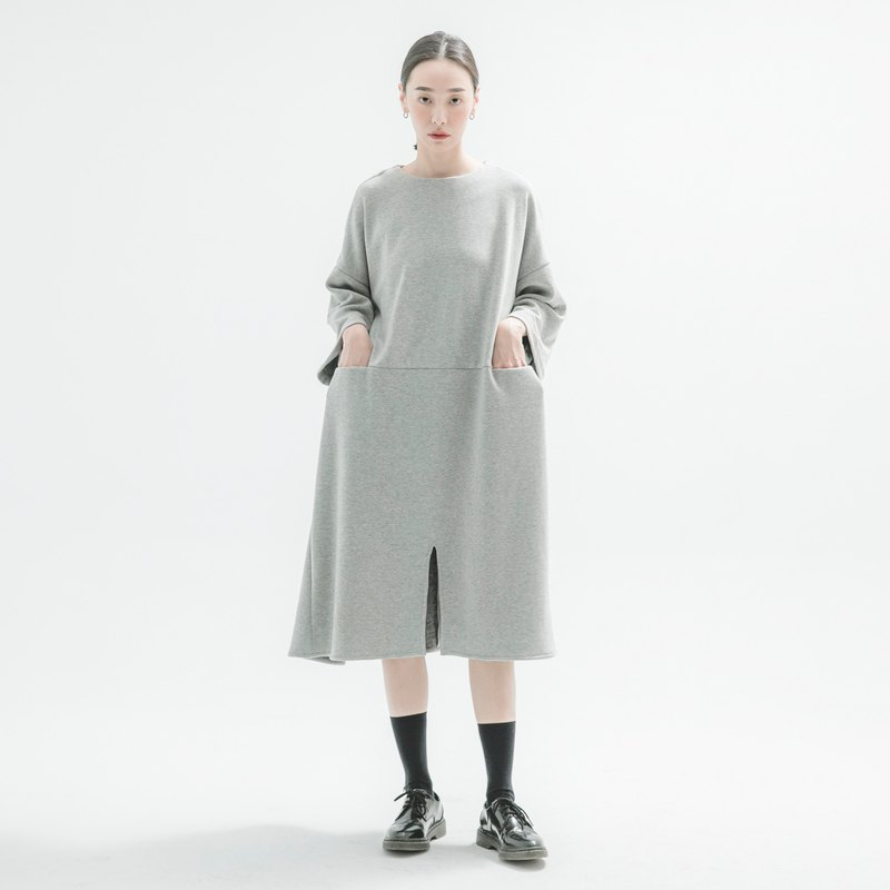 [Classic original] Wanderer_ Youzi loose dress _CLD506_ autumn and winter _ gray