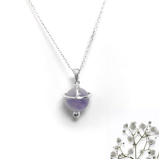 Light Purple Stone Necklace | Light Purple Universe Necklace | Amethyst Necklace
