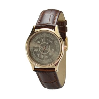12 Constellation Circle Watch (Sunray) Rose Gold Free Shipping Worldwide