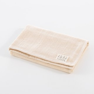 [Japan made Gamagori] thin section six heavy yarn square towel - rice