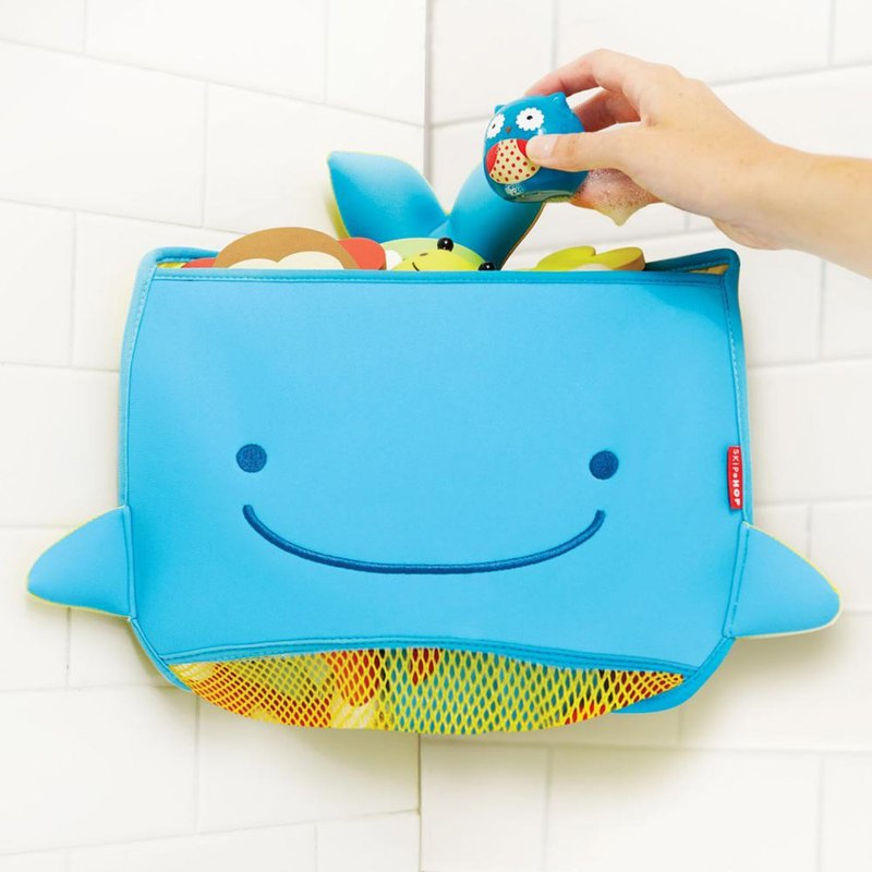 American Skip Hop-Whale Bathroom Corner Toy Storage Bag
