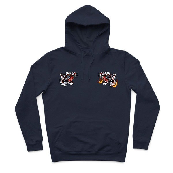 Tiger Fist - dark blue - Hooded T-Shirt
