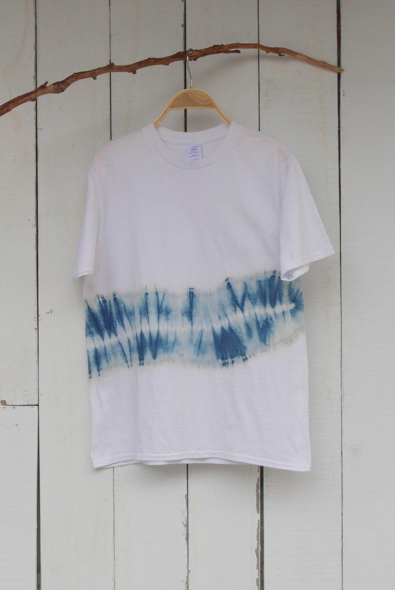 自在染isvara 手工藍染 純粹系列 侘寂(Wabi-sabi) 純棉T-shirt