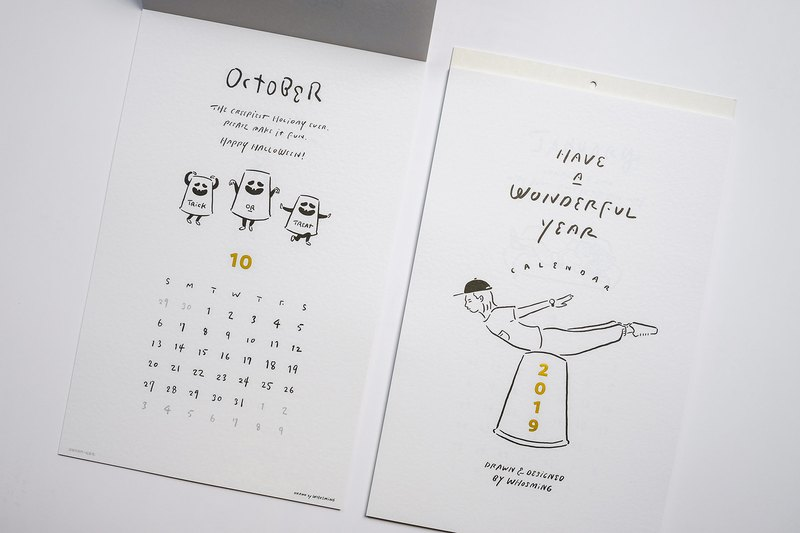 WHOSMiNG - HAVE A WONDERFUL YEAR 2019 Calendar